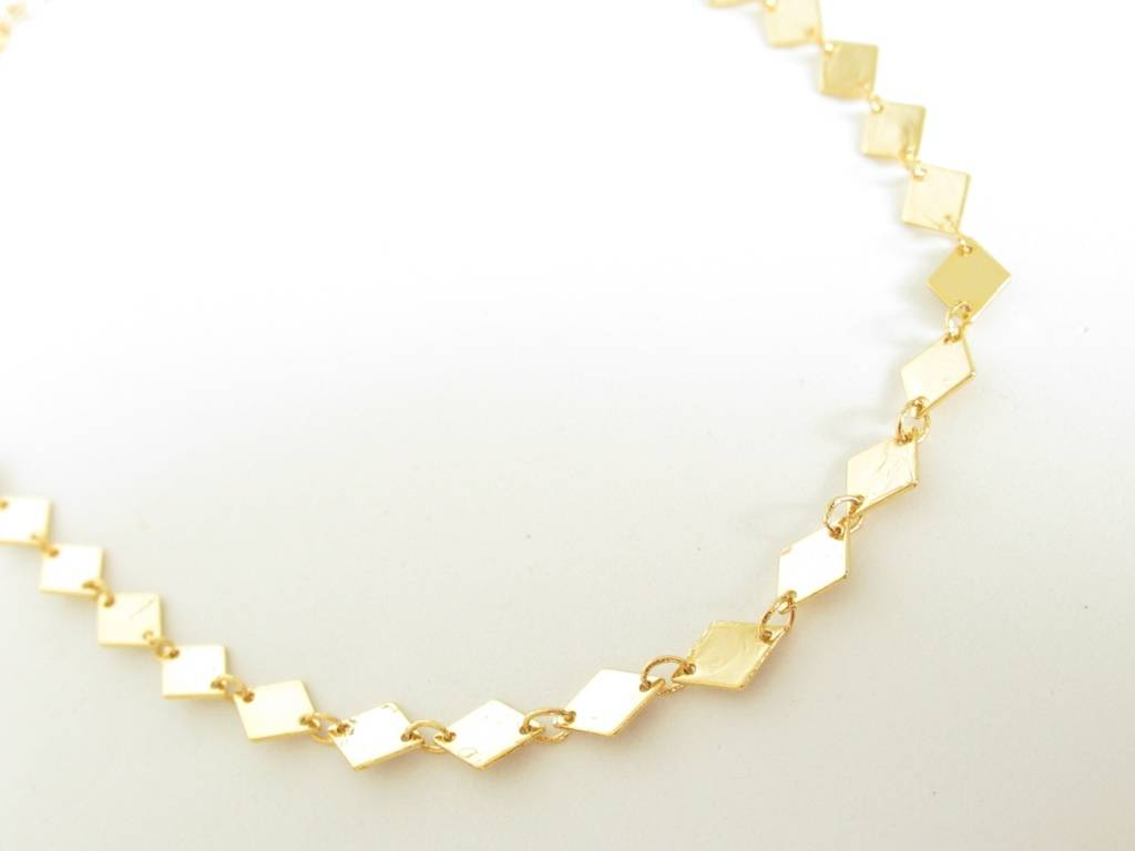 Made by Mila Made by Mila - Ruit choker goud