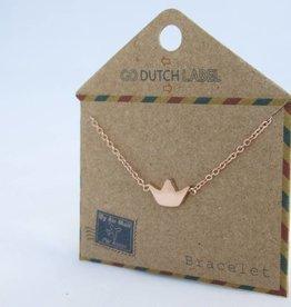 Go Dutch Label Armbanden Go Dutch Label - Kroontje rose goud