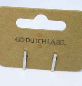 Go Dutch Label Oorbellen Go Dutch Label - Staafje/bar zilver