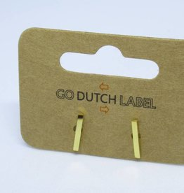 Go Dutch Label Oorbellen Go Dutch Label - Staafje/bar goud
