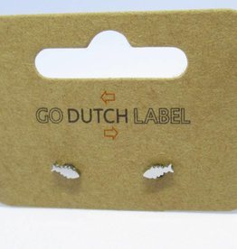 Go Dutch Label Oorbellen Go Dutch Label - Visje zilver
