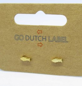 Go Dutch Label Oorbellen Go Dutch Label - Visje goud