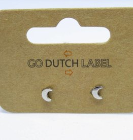 Go Dutch Label Oorbellen Go Dutch Label - Maan zilver