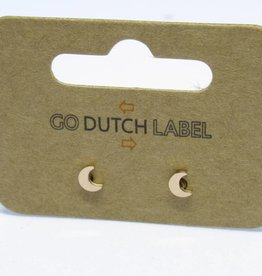 Go Dutch Label Oorbellen Go Dutch Label - Maan rose goud