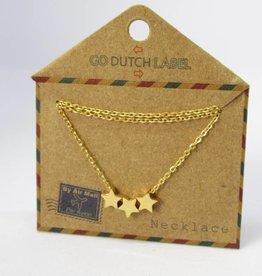 Go Dutch Label Kettingen Go Dutch Label - Stars goud