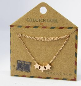 Go Dutch Label Kettingen Go Dutch Label - Stars rose goud