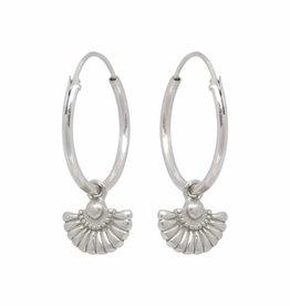 Eline Rosina Eline Rosina oorbellen - Deco waiver sterling silver