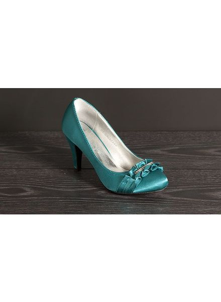 Pumps aqua met rushes 12299