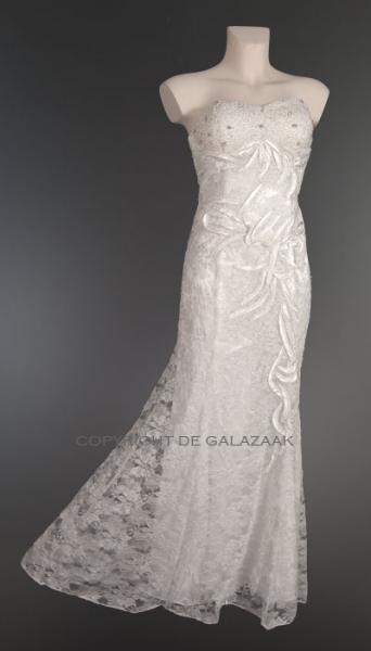 kanten witte jurk