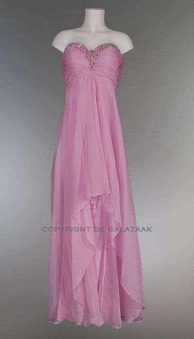 Strapless galajurk roze