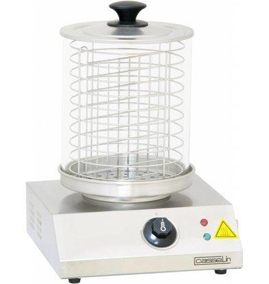 Casselin Chauffe-Saucisses Inox - 800W - Jusqu'à 100°C - 280x280(H)355mm