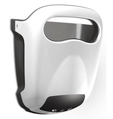 Vama Sèche-Mains Hands-in ''NOUVEAU MODÈLE 2015'' Blanc | Très Silencieux 60dB - 10 sec - avec Bac d'Égouttage