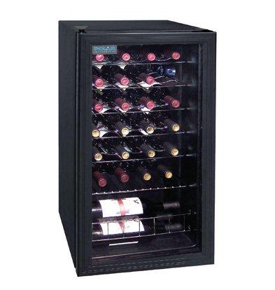 Polar Rafraîchisseur De Vin | Finition Noir | Capacité 26 Bouteilles | 825(h)mm