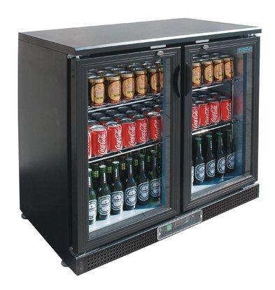 Polar Comptoir De Bar Réfrigéré Bas + 2 Portes Battantes - 168 Bouteilles 330ml - 218 Litres - 870(h)mm
