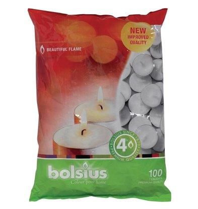 Bolsius Bougies Chauffe-Plat - 4 heures - 100 Pièces