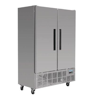 Polar Armoire Réfrigérée Inox | 960 Litres | Affichage Numérique | 700x1340x2000(h)mm