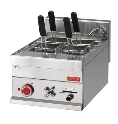 Gastro M Cuiseur à Pâtes Inox - 14 Litres - 230V - 3,0kW - 300x600x280(H)mm