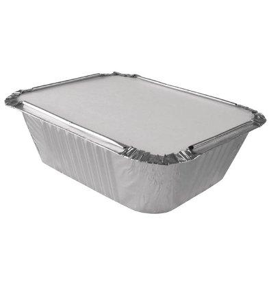 CHRselect Couvercles Carton pour Barquette Aluminium | 201x109mm | Lot de 500