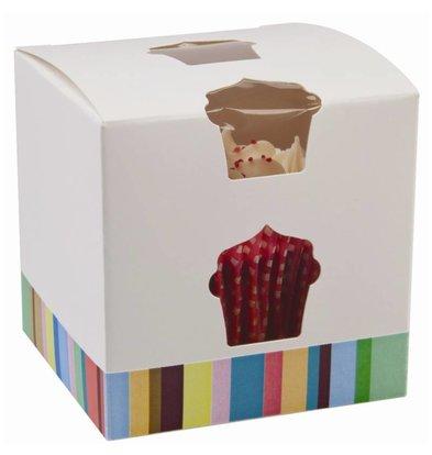 CHRselect Boîtes à Cupcake Individuel - 10 Pièces