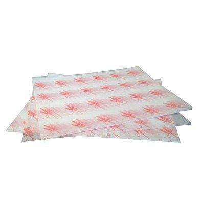 CHRselect Emballage Hamburger Papier Sulfurisé - Rouge - 1000 Pièces