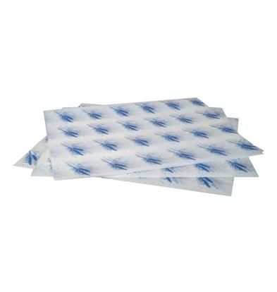 CHRselect Emballage Hamburger Papier Sulfurisé - Blue - 1000 Pièces