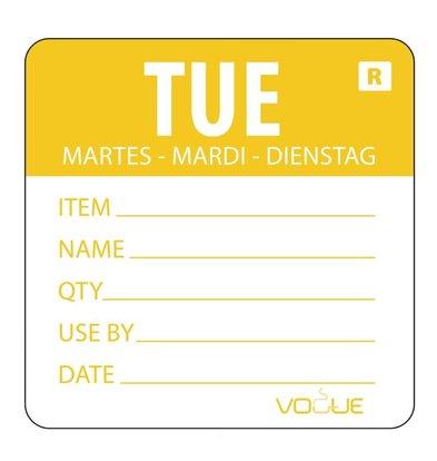 CHRselect Etiquette Code Couleur Mardi/Jaune - 500 Pièces