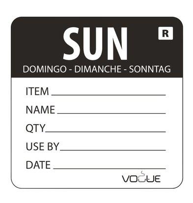 CHRselect Etiquette Code Couleur Dimanche/Noir - 500 Pièces