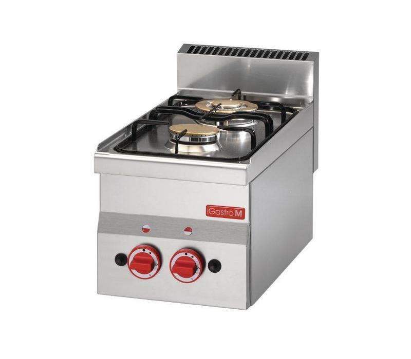 Cuisinière à Gaz Inox - 2 Feux - 60/30PCG - 6,1kW - 300x600x280(H)mm
