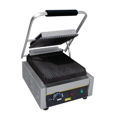 Buffalo Contact Grill BUDGET - Rainuré - Simple - 300x390x210(h)mm - 1500W