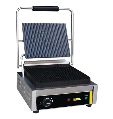 Buffalo Grill De Contact Inox - Grand - Rainuré/Rainuré - 2000W - 360x320x210(h)mm