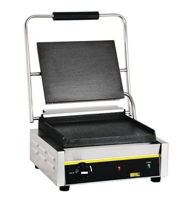 Buffalo Contact Grill BUDGET - Lisse - Grand Modèle - 380x390x210(h)mm - 2200W