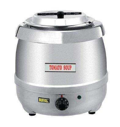 Buffalo Soupière Inox | 10 Litres | Thermostat Réglable | Ø330x375(h)mm