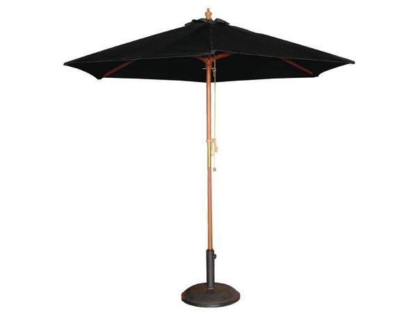 parasol rond noir syst me poulies 3000x2520 h mm. Black Bedroom Furniture Sets. Home Design Ideas