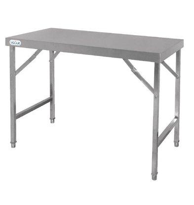 CHRselect Table De Travail Inox - Pliable - 1200(l)x600(p)x900(h)mm
