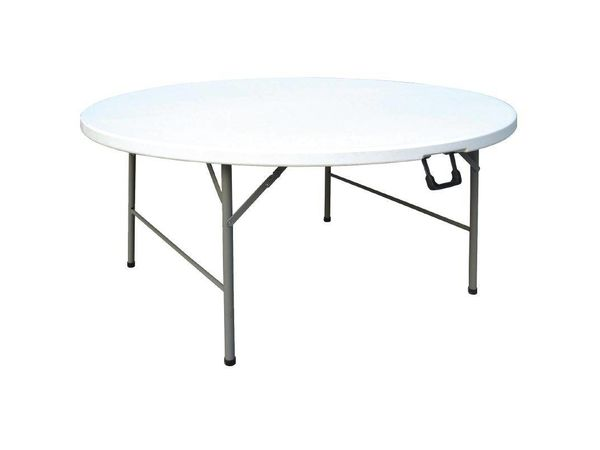 table ronde pliable 1520mm 740 h mm. Black Bedroom Furniture Sets. Home Design Ideas
