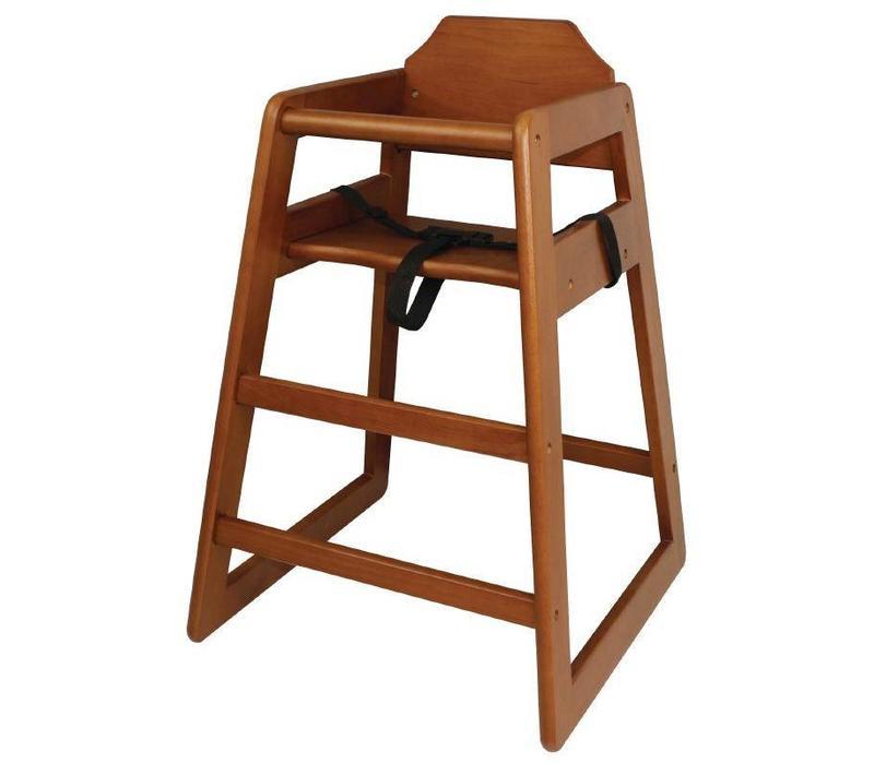 Chrselect chaise haute pour enfant brun fonc 510 l x510 p x750 h mm - Chaise haute pour enfant ...