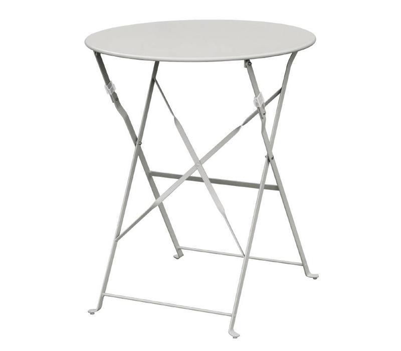 table de terrasse pliante en acier disponible en 4 couleurs. Black Bedroom Furniture Sets. Home Design Ideas