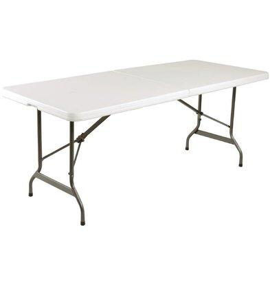 CHRselect Table Pliable Au Centre Blanche - 1800mm - 760x1830mm - PROMOTION XXL