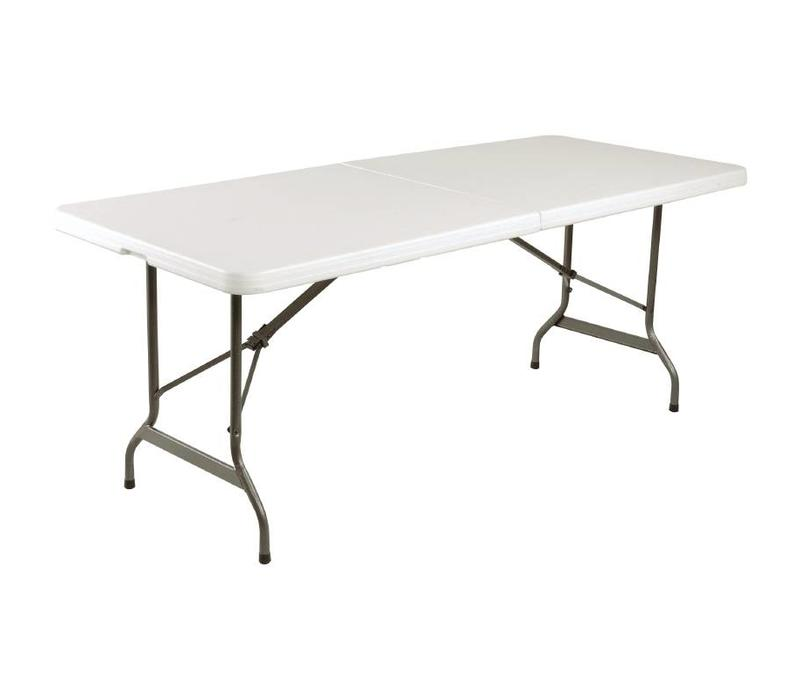 Chrselect table pliable au centre blanche 1800mm for Table blanche pliable