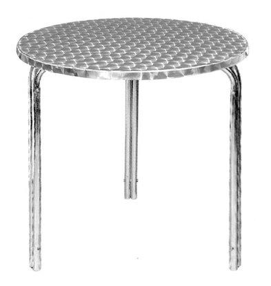 CHRselect Table de Terrasse Inox   Pieds Aluminium   Ø600x720(h)mm