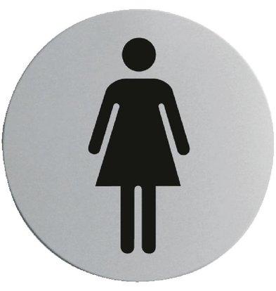 CHRselect Plaquette De Porte Inox - Femme - Ø75mm