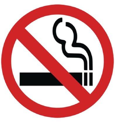 CHRselect Panneau De Vitrine Symbole Non Fumeur - 100x100mm