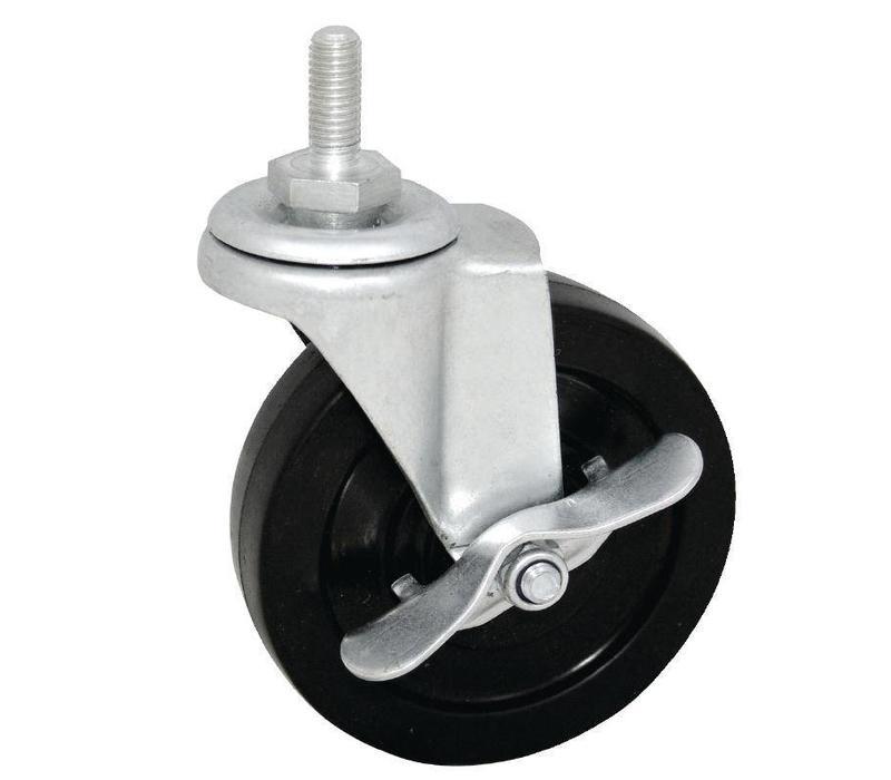 4 roulettes pour tag res provisions 2 avec frein et 2 sans frein. Black Bedroom Furniture Sets. Home Design Ideas