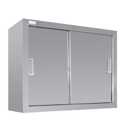 CHRselect Armoire Murale Inox - 2 Portes Coulissantes - 300(p)x900(l)x600(h)mm