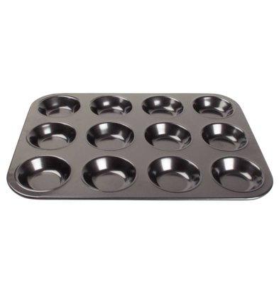 CHRselect Moule à 12 Mini Muffins - Anti-Adhésive - 14(p)mm