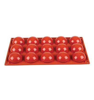 Pavoni Moule à Pâtisserie GN1/3 - 15 Demies Sphères - Silicone - Pavoni