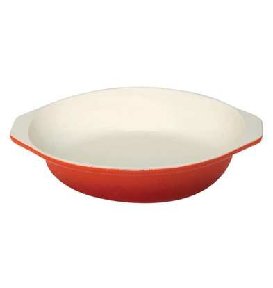 CHRselect Plat à Gratin Rond - Orange - 400ml - Ø150mm