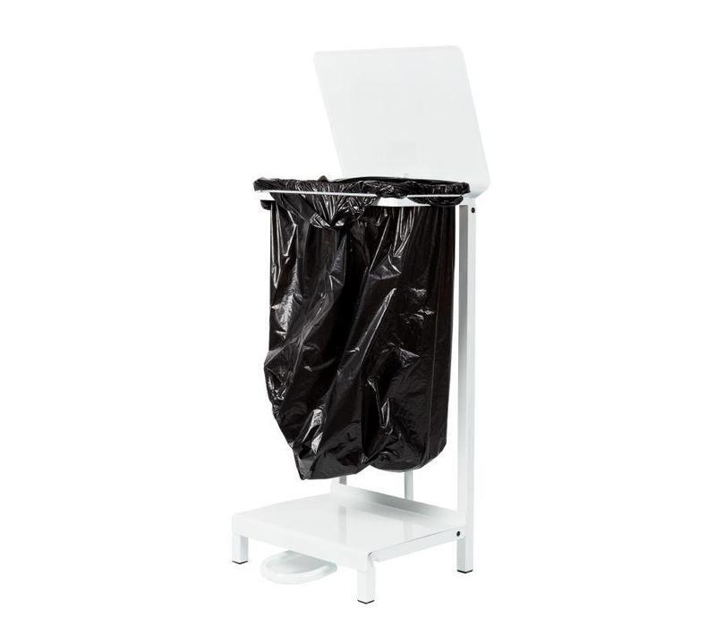 support sacs poubelle blanc jantex 430x330x880 h mm. Black Bedroom Furniture Sets. Home Design Ideas