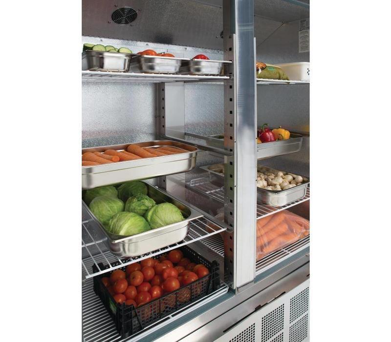 polar armoire r frig r e inox slimline 960 litres. Black Bedroom Furniture Sets. Home Design Ideas