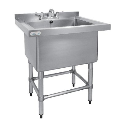 CHRselect Evier Profond 400mm Inox | 100 Litres + Bord | 770(l)x650(P)x900(H)mm